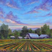 Farm On Glenn Bridge Poster