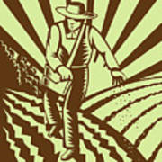 Farmer Sowing Seeds  Poster