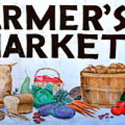 Farmers Market Sign. Poster