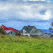 Farmhouse By The Sea Poster
