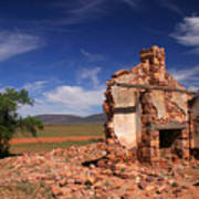 Farmhouse Cottage Ruin Flinders Ranges South Australia Poster