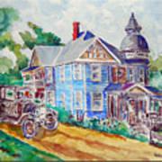 Farmhouse Near Atchison Poster