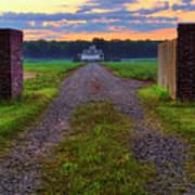 Farmhouse Sunrise - Arkansas - Landscape Poster