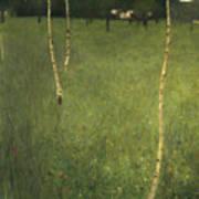 Farmhouse With Birch Trees Poster by Gustav Klimt