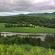 Farmland View Over The Connecticut River  Poster