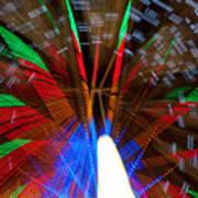 Farris Wheel Light Abstract Poster