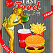 Fast Food Of The Day Poster