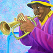 Fat Albert Plays The Trumpet Poster