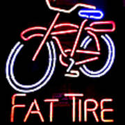 Fat Tire Neon Sign Poster