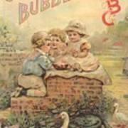 Father Tucks Soap Bubble Poster