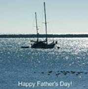 Father's Day Card - Peaceful Bay Poster