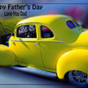 Father's Day W Frame Poster