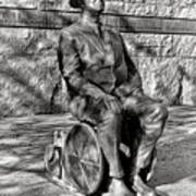 Fdr Memorial Sculpture In Wheelchair Poster