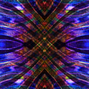 Feathered Stained Glass Poster