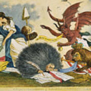 Federalist Cartoon, C1799 Poster