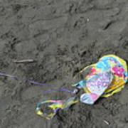 Feliz Cumpleanos Mylar On The Beach Poster