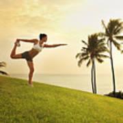 Female Doing Yoga Poster