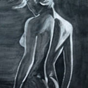 Female Nude Black And Grey Poster