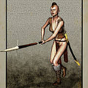 Female Pike Guard - Warrior Poster