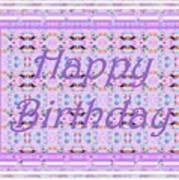 Feminine Lavender Birthday Card Poster