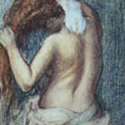Femme A Sa Toilette Poster by Edgar Degas