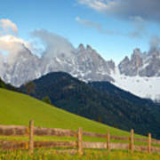 Fence At Val Di Funne Poster