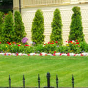 Fence Lined Garden Poster