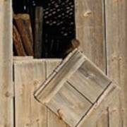 Fence Posts In Barn Poster