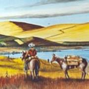 Fence Rider Going Home Poster