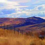 Fence Views Wyoming Color Poster