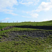 Fencing Along A Field Above The Cliff's Of Moher Poster