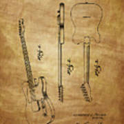 Fender Guitar Patent From 1951 Poster