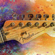 Fender Head Poster by Andrew King