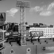 Fenway Park Green Monster Wall Bw Poster