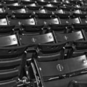 Fenway Park Red Bleachers Bw Poster