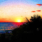 Fernandez Bay Sunset Poster