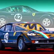 Ferrari 365 Gtc4 Poster