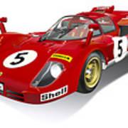 Ferrari 512 Illustration Poster