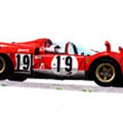 Ferrari 512s Mario Andretti 1970 Poster