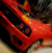 Ferrari Action Poster