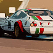Ferrari Daytona - Italian Flag Livery Poster