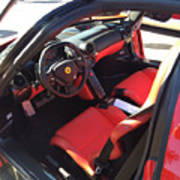 Ferrari Enzo Interior Poster