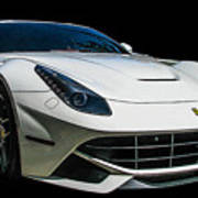 Ferrari F12 Berlinetta In White Poster
