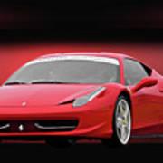 Ferrari F458 'iconic Italian Sports Car' Poster