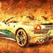 Ferrari F60 America, Golden Poster, Birthday Gift For Men Poster