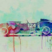 Ferrari Testa Rossa Watercolor 2 Poster
