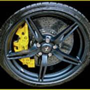 Ferrari Wheel Poster