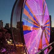 Ferris Wheel At Fun Fair In Downtown Portland Oregon Poster
