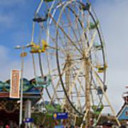 Ferris Wheel Santa Cruz Boardwalk Poster