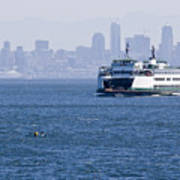 Ferry Versus Kayaker Poster